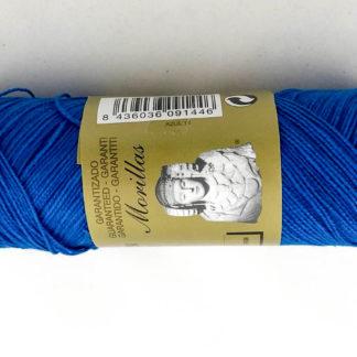 Zepelín color azul 14 de algodón perlé 100% egipcio