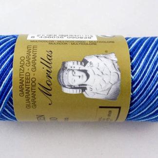 Zepelín color azul 29 multicolor de algodón perlé 100% egipcio