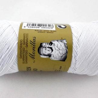 Zepelín color blanco punto azul multicolor de algodón perlé 100% egipcio