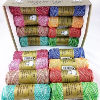 Caja 16 zepelines N12 multicolores de algodón 100% egipcio