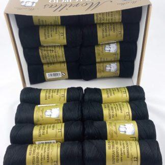 Caja 16 zepelines N12 negro de algodón 100% egipcio