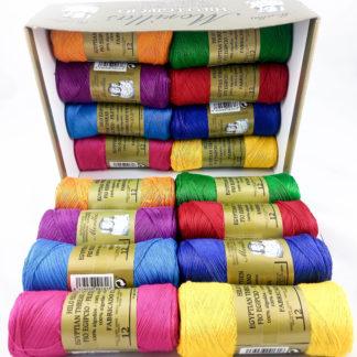Caja 16 zepelines N12 colores oscuros de algodón 100% egipcio