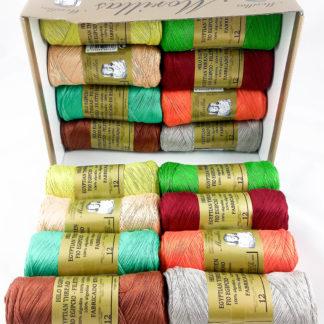Caja 16 zepelines N12 colores serie 3 de algodón 100% egipcio
