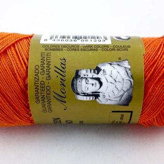 Zepelín color naranja 19 de algodón perlé 100% egipcio