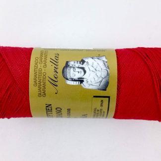 Zepelín color rojo 11 de algodón perlé 100% egipcio