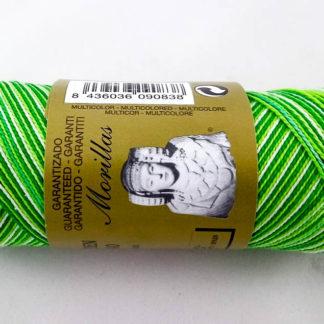 Zepelín color verde 26 multicolor de algodón perlé 100% egipcio